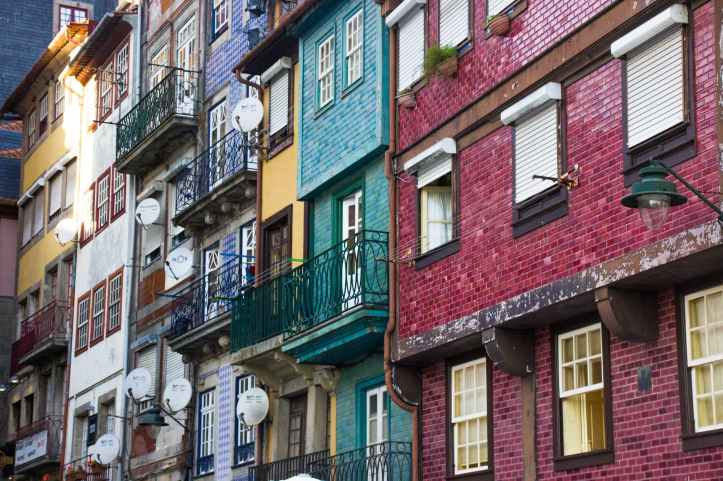 multicolored multi story buildings
