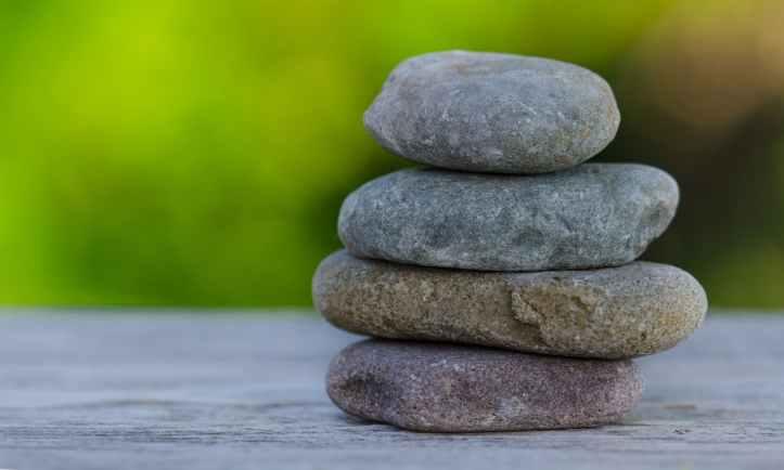 stones pebbles wellness balance